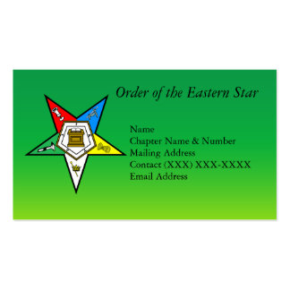 Order of the Eastern Star Business Cards