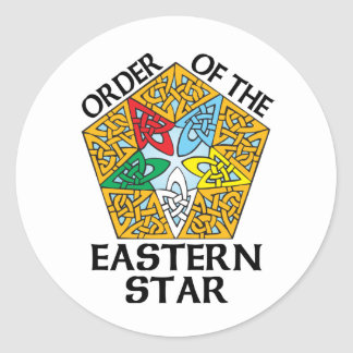 Order of the Eastern Star Celtic Knot design Round Sticker