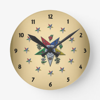Order Of The Eastern Star Round Clock