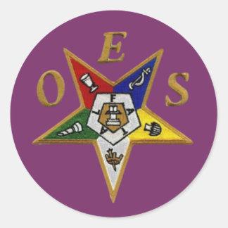 ORDER of the EASTERN STAR Round Sticker
