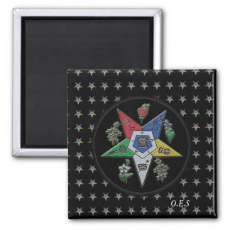 Order Of The Eastern Star Square Magnet
