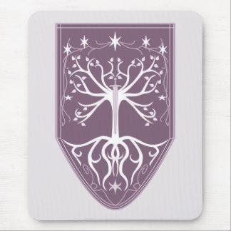 'Order of the White Tree' Crest Mouse Pad