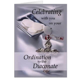 Ordination Congratulations Diaconate, Deacon Hosts Card