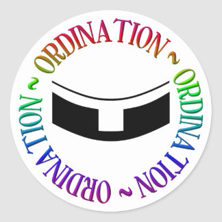 Ordination - Holy Orders Classic Round Sticker