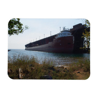 Ore Boat at Marquette MI - Fridge Magnet
