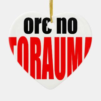 ORE TORAUMA trauma anohana summer japanese end win Ceramic Heart Ornament