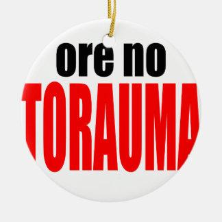 ORE TORAUMA trauma anohana summer japanese end win Round Ceramic Ornament