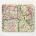 Ore, Wash, Idaho, Mont Map by Mitchell Mousepads