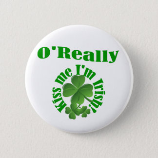 O'Really, Irish surname 2 Inch Round Button