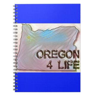"""Oregon 4 Life"" State Map Pride Design Notebook"