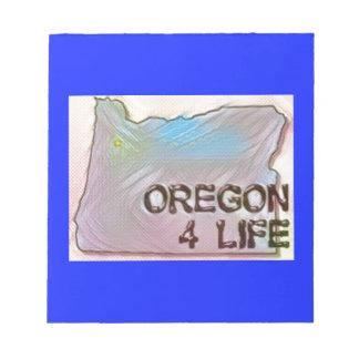 """Oregon 4 Life"" State Map Pride Design Notepad"