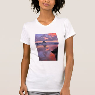 Oregon beach and sea stacks, sunset T-Shirt