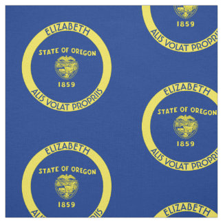 Oregon Beaver State Personalized Flag Fabric