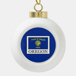 Oregon Ceramic Ball Christmas Ornament