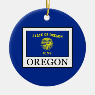 Oregon Ceramic Ornament