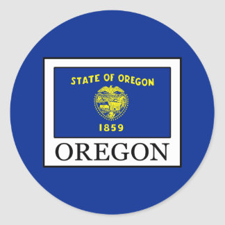 Oregon Classic Round Sticker