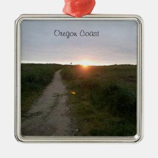 Oregon Coast Beach Sunset Ornament