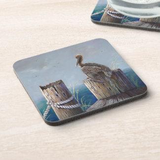 Oregon Coast Brown Pelican Acrylic Ocean Art Coaster