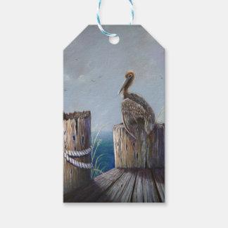 Oregon Coast Brown Pelican Acrylic Ocean Art Gift Tags