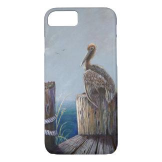 Oregon Coast Brown Pelican Acrylic Ocean Art iPhone 8/7 Case