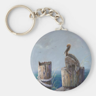 Oregon Coast Brown Pelican Acrylic Ocean Art Keychain