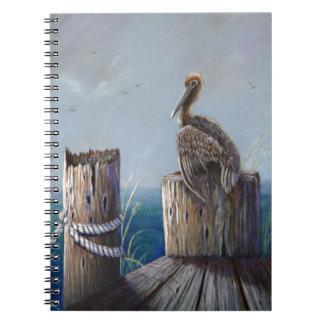 Oregon Coast Brown Pelican Acrylic Ocean Art Notebook