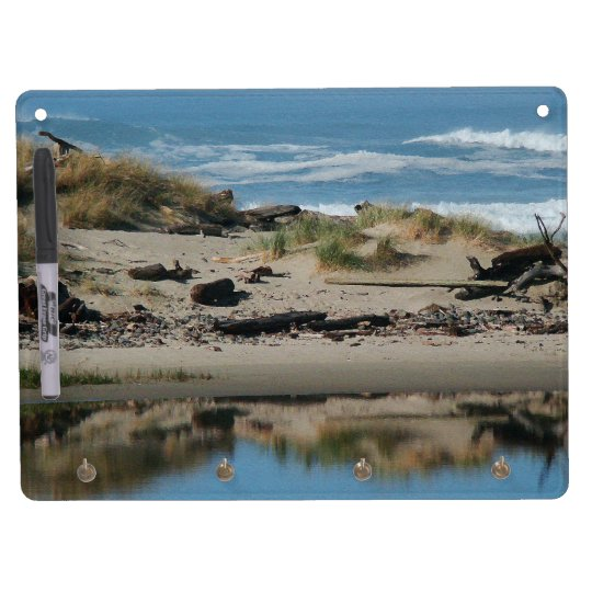 Oregon Coast Driftwood Beach & River Board Dry Erase White Board