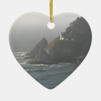 Oregon Coast Lighthouse Ceramic Ornament