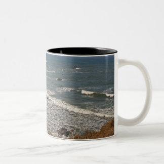 Oregon Coast near Strawberry Hill Two-Tone Coffee Mug