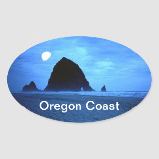Oregon Coast Oval Sticker