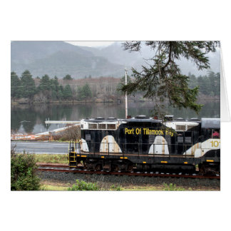 Oregon Coast Scenic Railroad Cow Engine Card