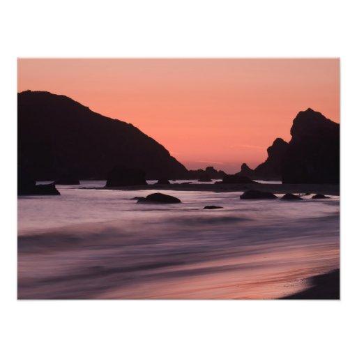 Oregon Coast Sunset Photo Art