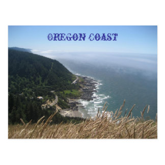 Oregon Coastline Postcard