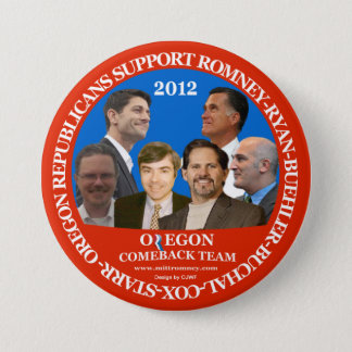 Oregon Comeback Team Romney-Ryan pin