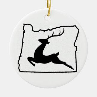 Oregon Deer Ceramic Ornament