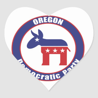 Oregon Democratic Party Heart Stickers