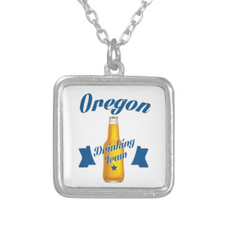 Oregon Drinking team Silver Plated Necklace