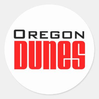 oregon dunes classic round sticker