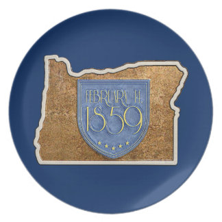 Oregon Est. 1859Feb14 Plate