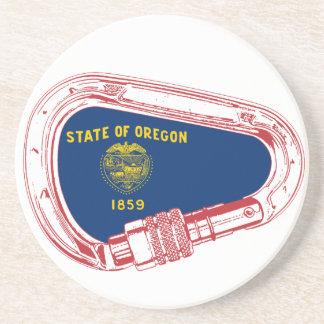 Oregon Flag Climbing Carabiner Coaster