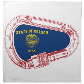 Oregon Flag Climbing Carabiner Napkin