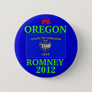Oregon for Romney 2012 2 Inch Round Button