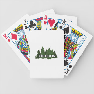 Oregon Forest Bicycle Playing Cards