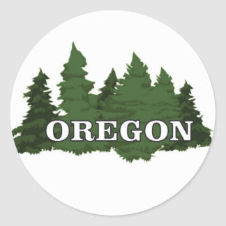 Oregon Forest Classic Round Sticker