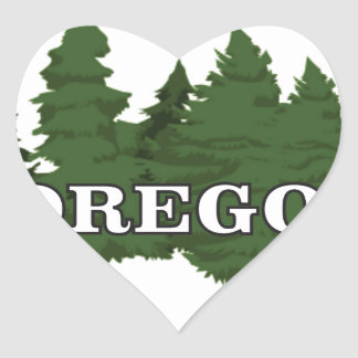 Oregon Forest Heart Sticker