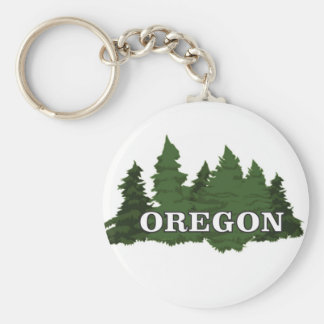 Oregon Forest Keychain