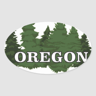 Oregon Forest Oval Sticker