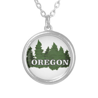 Oregon Forest Silver Plated Necklace
