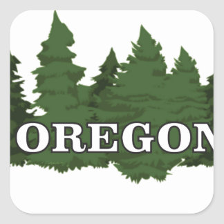 Oregon Forest Square Sticker