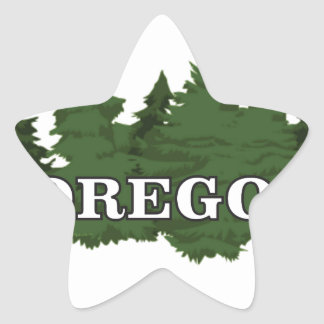 Oregon Forest Star Sticker